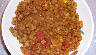 Extreme Fat Smash Tomato-Curry Lentil Stew