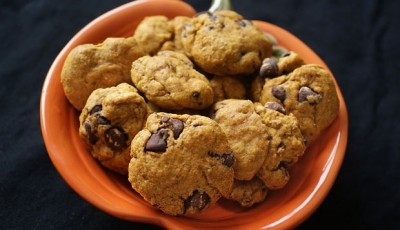 An egg free chocolate chip pumpkin cookie for Lucie