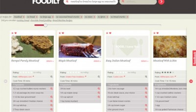 Foodily helps you find recipes that work with your food sensitivities