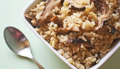 Rice cooker recipes: Dried Mushroom Risotto