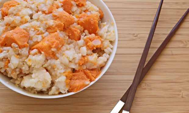 Rice cooker recipes: Yam Congee at This Mama Cooks! On a Diet - thismamacooks.com