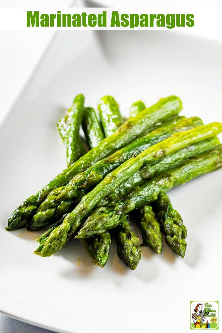 A plate of Marinated Asparagus