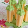 Sugar Free Dairy Free Orange Coconut Popsicles