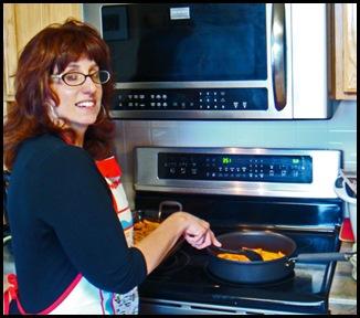 Anne-Marie making sweet potato fries