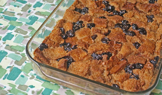 Gluten Free Cherry and Orange Bread Pudding from This Mama Cooks! On a Diet - thismamacooks.com