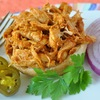 Holly Clegg's Open Face Pulled Chicken Sandwiches