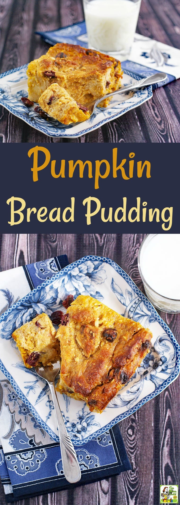 The Best Pumpkin Bread Pudding Ever! This pumpkin cranberry bread pudding can be made gluten free and dairy free. Make a dish of this easy pumpkin bread pudding recipe for Thanksgiving breakfast or brunch. #recipe #easy #recipeoftheday #healthyrecipes #glutenfree #easyrecipes #dessert #dairyfree #pumpkin #cranberry #coconut #thanksgiving #breadpudding #pumpkindessert #pumpkinrecipe #pumpkinspice