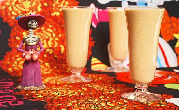 Day of the Dead Pumpkin Tofu Smoothie - Get the dairy free recipe at This Mama Cooks! On a Diet - thismamacooks.com
