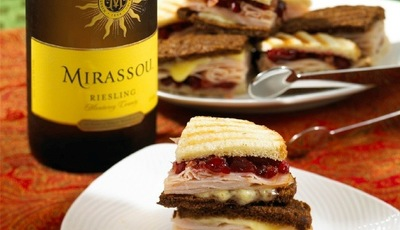 Thanksgiving leftovers: Turkey Panini Sandwiches with Cranberry Relish