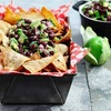 Black Bean-Avocado Salsa with Home-Baked Tortilla Chips