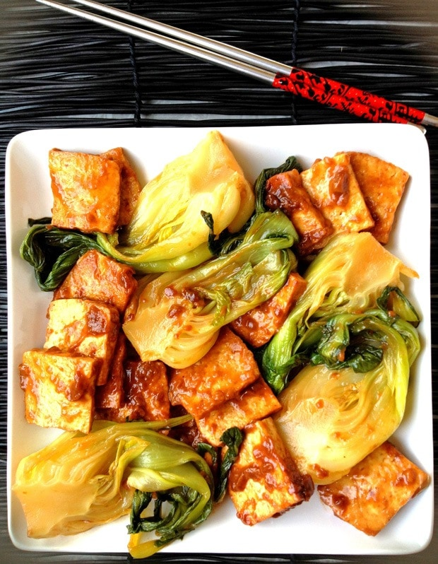 Baby Bok Choy and Tofu in Bourbon Sauce | This Mama Cooks! On a Diet ...
