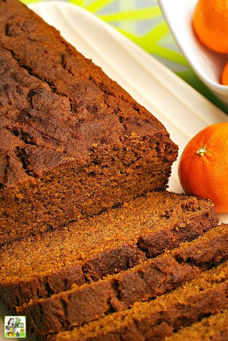 This Best Gluten Free Pumpkin Bread recipe is also sugar free!