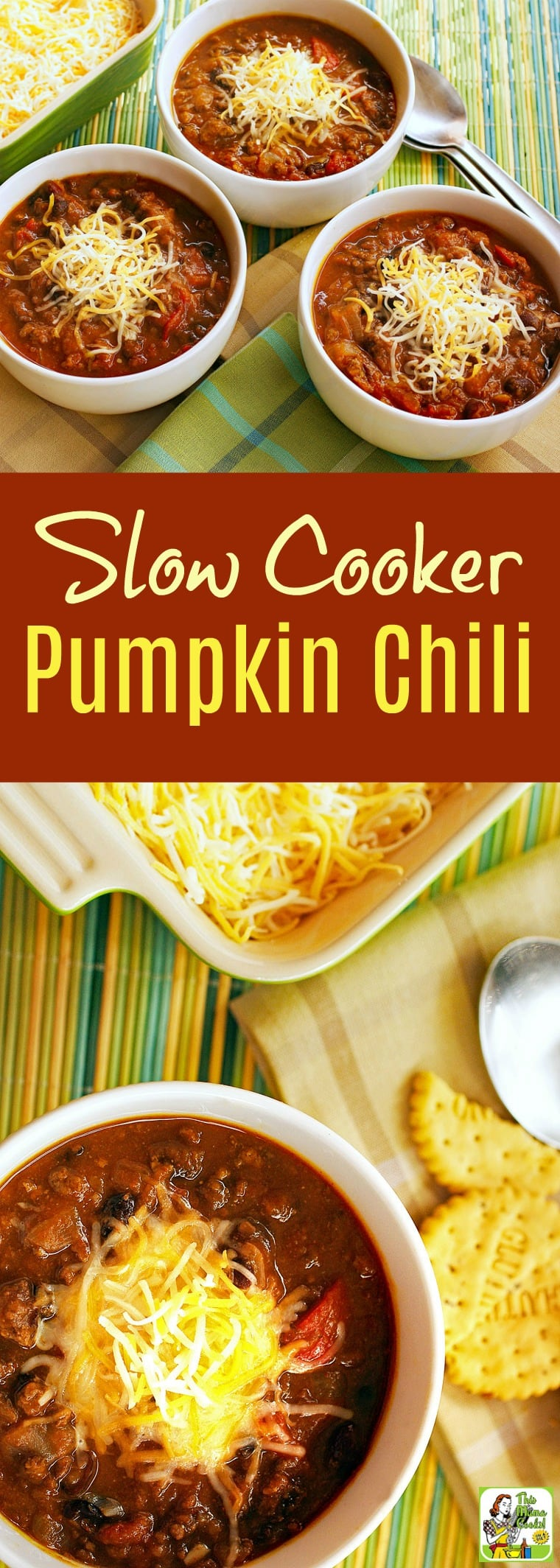 Looking for healthy slow cooker chili recipes? Try this slow cooker pumpkin chili recipe! Easy to make, naturally gluten-free and healthy! #recipe #easy #recipeoftheday #healthyrecipes #glutenfree #easyrecipes #slowcooker #crockpot #dinner #easydinner #pumpkinrecipe #pumpkin #chili #beans #turkey #recipe #easy #recipeoftheday #healthyrecipes #easyrecipes