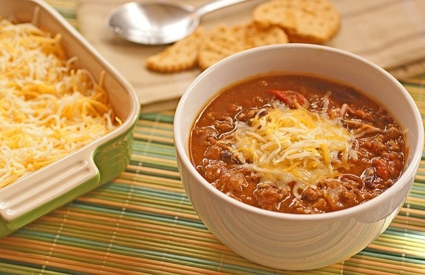 slow cooker pumpkin and bean chili