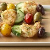 Healthy party appetizers: Crispy Garlic Shrimp Skewers
