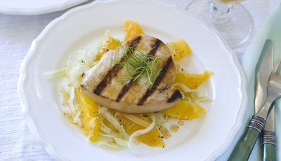 Memorial Day grilling: Swordfish with Orange Fennel Salad #glutenfree