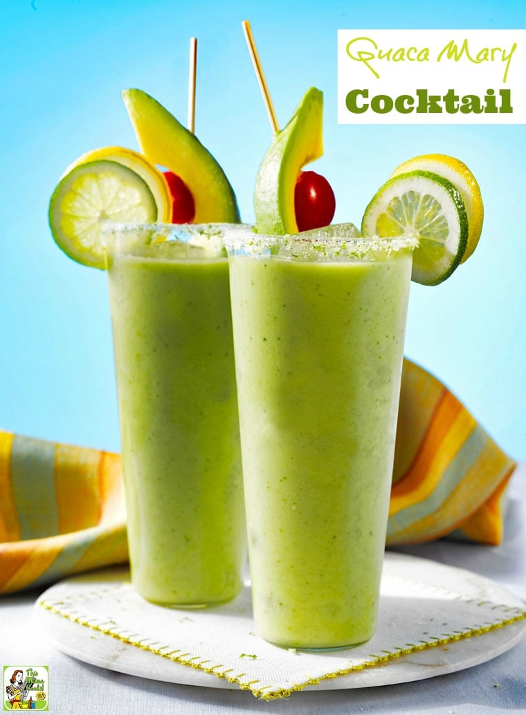 Tired of Bloody Mary's and looking for new Mother's Day drink ideas? Try a Guaca Mary Cocktail. Click to get this easy to make brunch cocktail recipe. Can also be made as a mocktail.