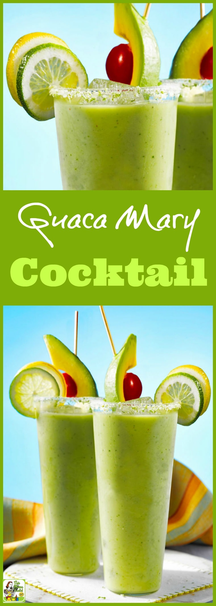 Tired of Bloody Mary's and looking for new Mother's Day drink ideas? Try a Guaca Mary Cocktail. Click to get this easy to make brunch cocktail recipe. Can also be made as a mocktail. This guilt free healthy cocktail or mocktail is made with nutrious avocado, spicy peppers, hydrating coconut water, and Mexican green hot sauce.