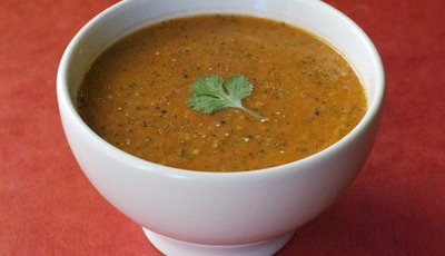 Healthy soups: Spicy Watermelon Gazpacho