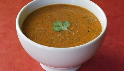 Healthy Spicy Watermelon Gazpacho
