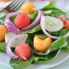 Spinach and Melon Salad with Honey Citrus Vinaigrette