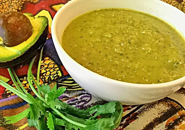 Avocados aren't just for guacmole. Try my Healthy Guacamole Gazpacho soup! At This Mama Cooks! On a Diet - thismamacooks.com