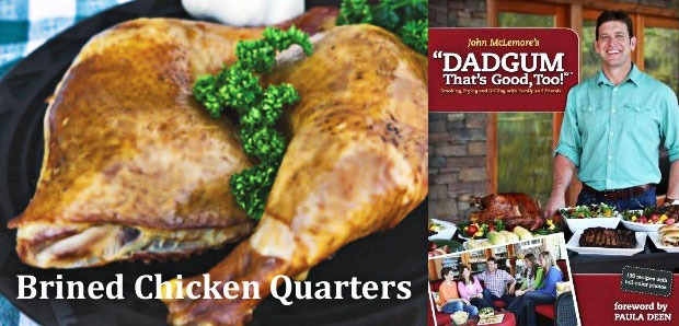 Brined Chicken Quarters from