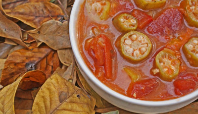Healthy fall dinners: Okra Soup #secretrecipeclub