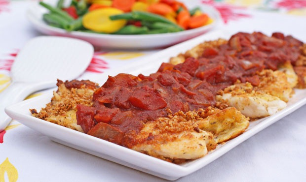 Hunt's® Crispy Breaded Tilapia #HuntsRecipes