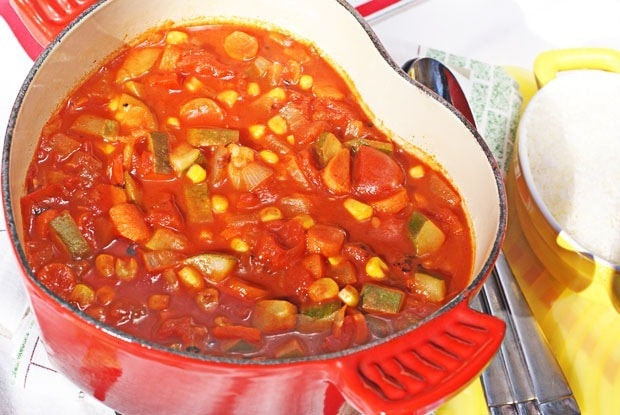 Fire-Roasted Tomato Vegetable Soup at This Mama Cooks! On a Diet - thismamacooks.com