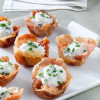 Prosciutto Cups with Goat Cheese Mousse