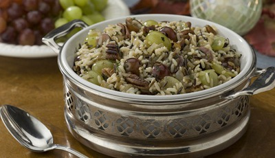 Healthy holiday sides: Chilean Grape and Wild Rice Dressing
