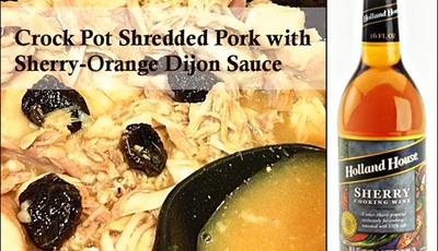 Crock Pot Shredded Pork with Sherry-Orange Dijon Sauce