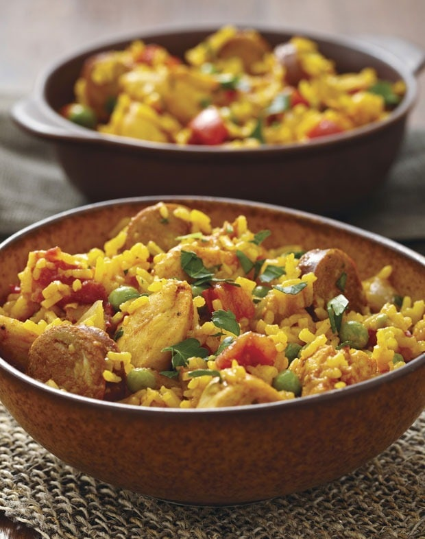 Chicken and Sausage Paella from Allergy-Free and Easy Cooking at This Mama Cooks! On a Diet - thismamacooks.com