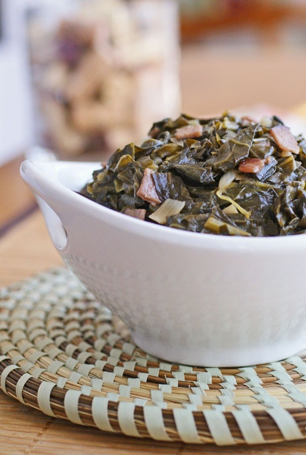 Collard Greens Sweetened with Sorghum