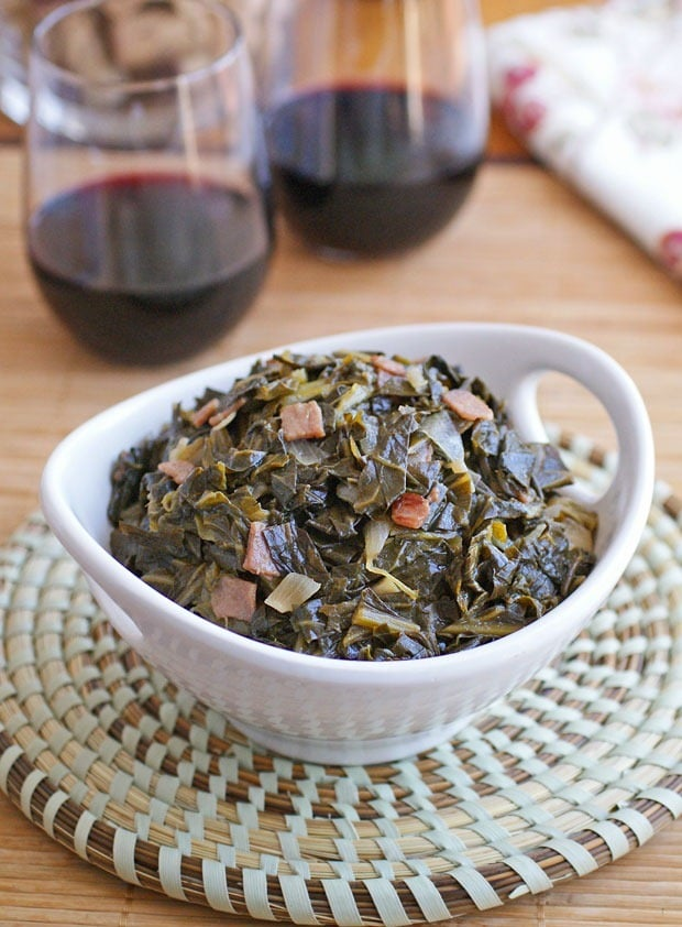 Sweetened Collard Greens. Get the recipe at This Mama Cooks! On a Diet - thismamacooks.com