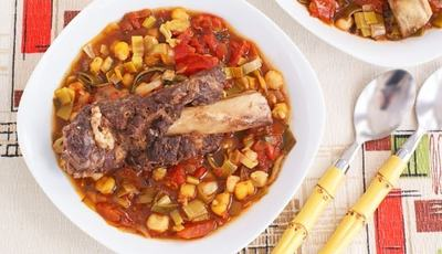 Braised Not-So-Short Short Ribs with Hominy Stew from A New Turn in the South