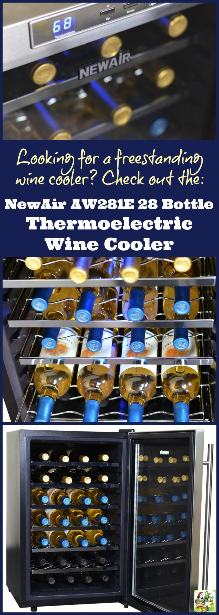 Looking for the best thermoelectric wine cooler? Try the NewAir AW-281E 28 Bottle Thermoelectric Wine Cooler. It's a great freestanding wine cooler. Also works as a countertop wine cooler.