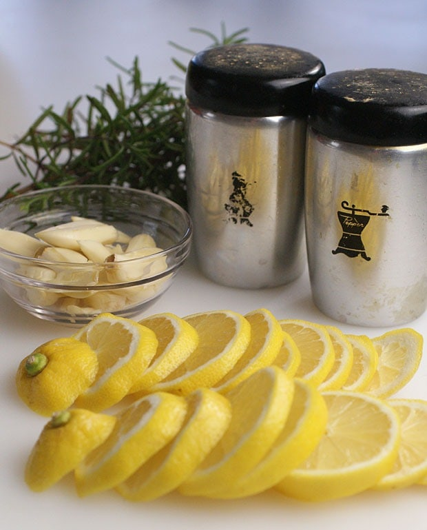 Slow Cooker Lemon, Garlic and Rosemary Chicken ingredients