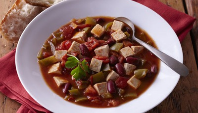 Meatless Monday: Tofu Chili #vegan #glutenfree