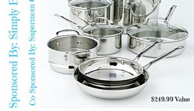 Win an 11 piece Cuisinart Cookware Set! {$249.99 value}