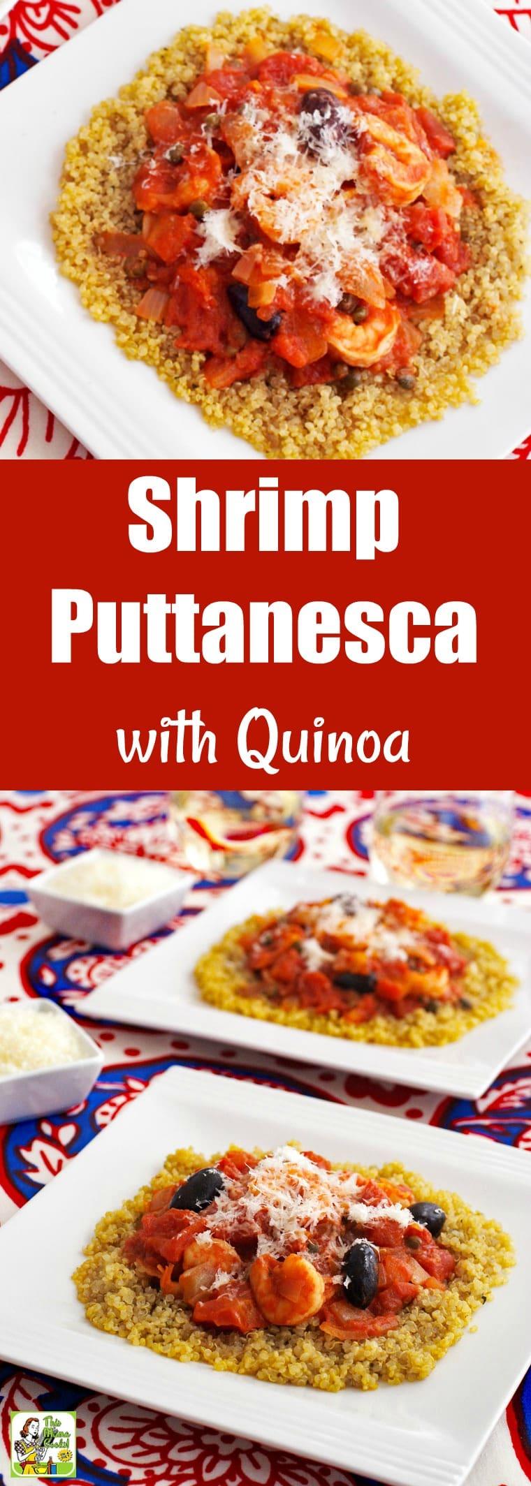 Shrimp Puttanesca with Quinoa
