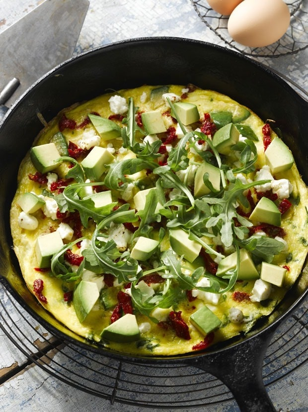 Easy and healthy brunch dish: Avocado and Feta Frittata at This Mama Cooks! On a Diet - thismamacooks.com