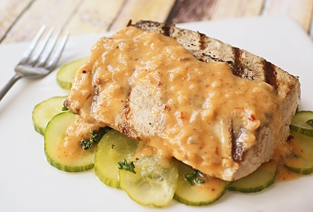 Grilled Fish with Hot Sauce Buerre Blanc