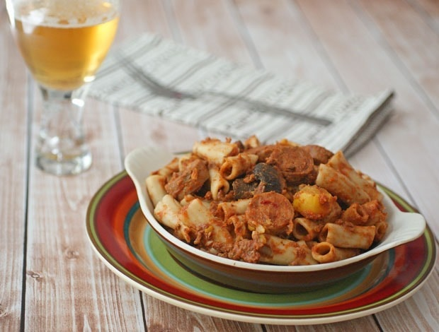 Healthy Gluten Free Slow Cooker Pasta from This Mama Cooks! On a Diet - thismamacooks.com