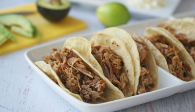Slow Cooker Spicy Pulled Pork Tacos