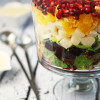 Layered Mexican Christmas Eve Salad with Smoked Beets
