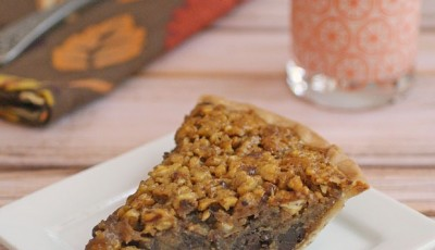Gluten Free Bourbon & Chocolate Pecan Pie
