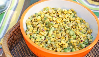 Grilled Corn and Poblano Guacamole #iloveavocados