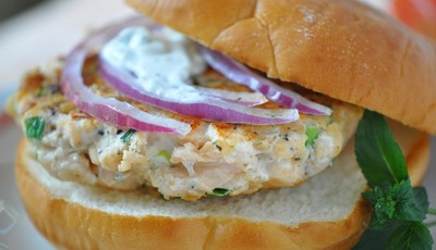 Snappy Salmon Burgers from Holly Clegg's KITCHEN 101: Secrets to Cooking Confidence